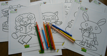 Free coloring pages for the children